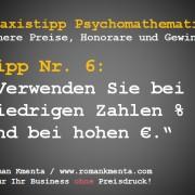 Praxistipp Psychomathematik Nr. 6