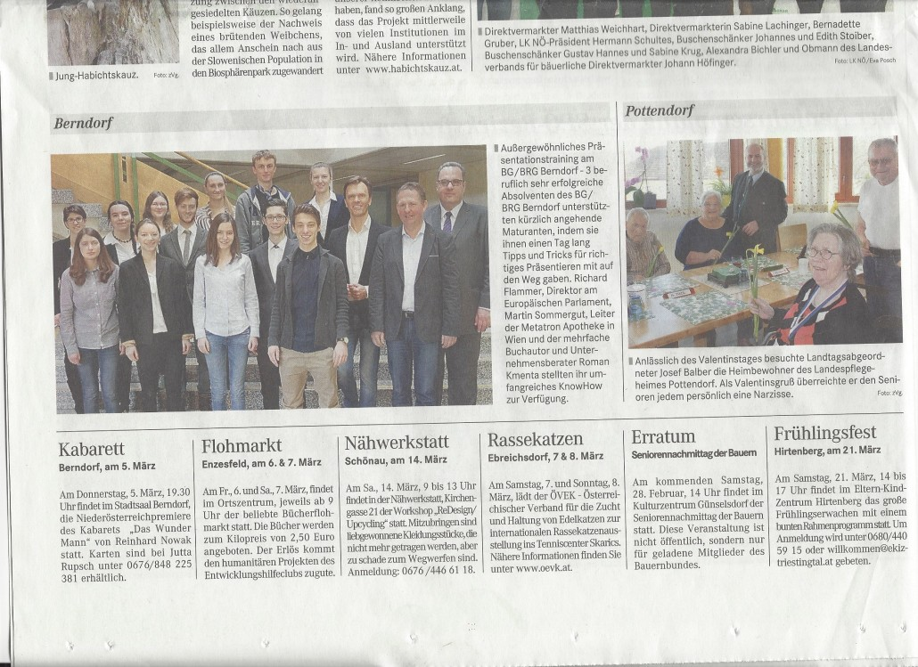Badener Zeitung 26022015 BG Berndorf