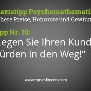 Preispsychologie und Psychomathematik Tipp 10 Blog Kmenta