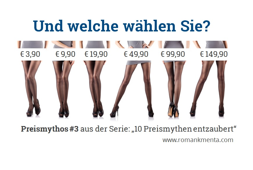 Strumpfhosen Qualitätswahrnehmung - Serie Preismythos - Blog Roman Kmenta - Autor und Votragender