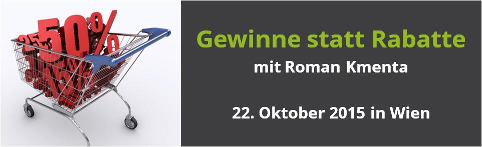 Preisverhandlung lernen - Seminar / Training - Roman Kmenta - Preisexperte, Autor, Redner