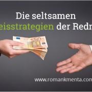 Preisstrategien Redner - Blog Roman Kmenta - Autor und Vortragender