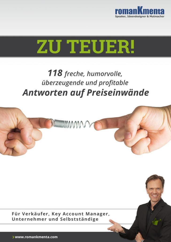 Preisgespräch - Preisverhandlung - Umgang mit Preiseinwänden - E-Book Roman Kmenta - Autor und Redner