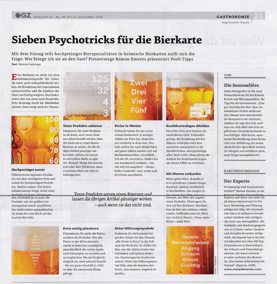 Psychotricks und Bier - ÖGZ - Roman Kmenta - Autor und Redner