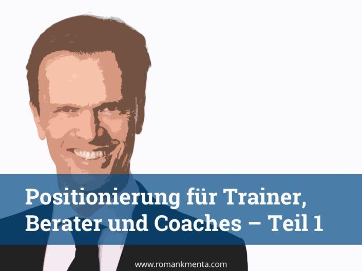 Roman Kmenta - Redner und Business Coach