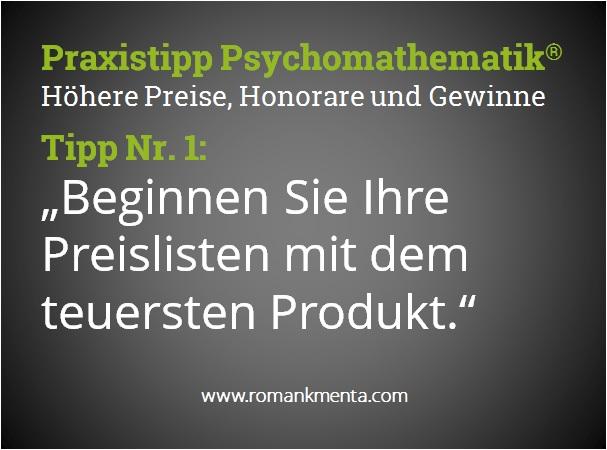 Praxistipp Psychomathematik 1