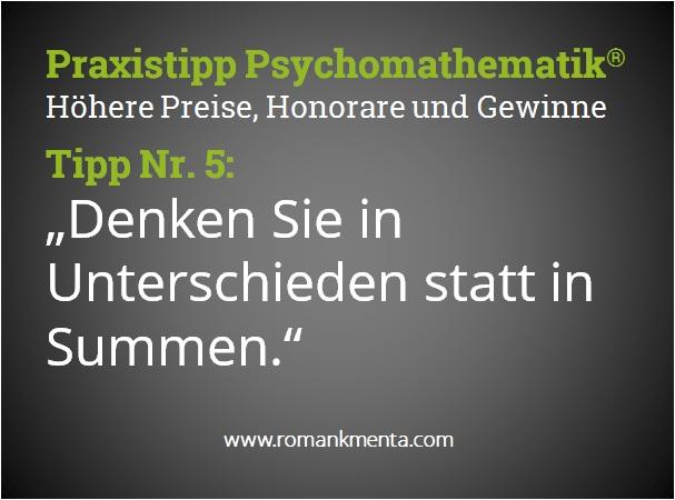 Praxistipp Psychomathematik 5