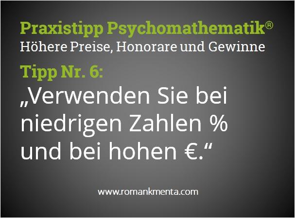Praxistipp Psychomathematik 6