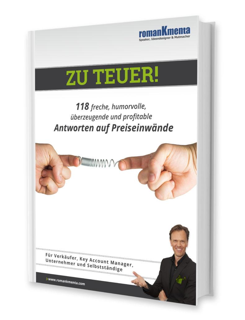 Preiserhöhung Kunden mitteilen - E-Book Zu teuer - Roman Kmenta - Keynote Speaker und Berater