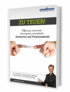 E-Book Einwandbehandlung bei Preisverhandlungen - Roman Kmenta - Autor und Preisexperte