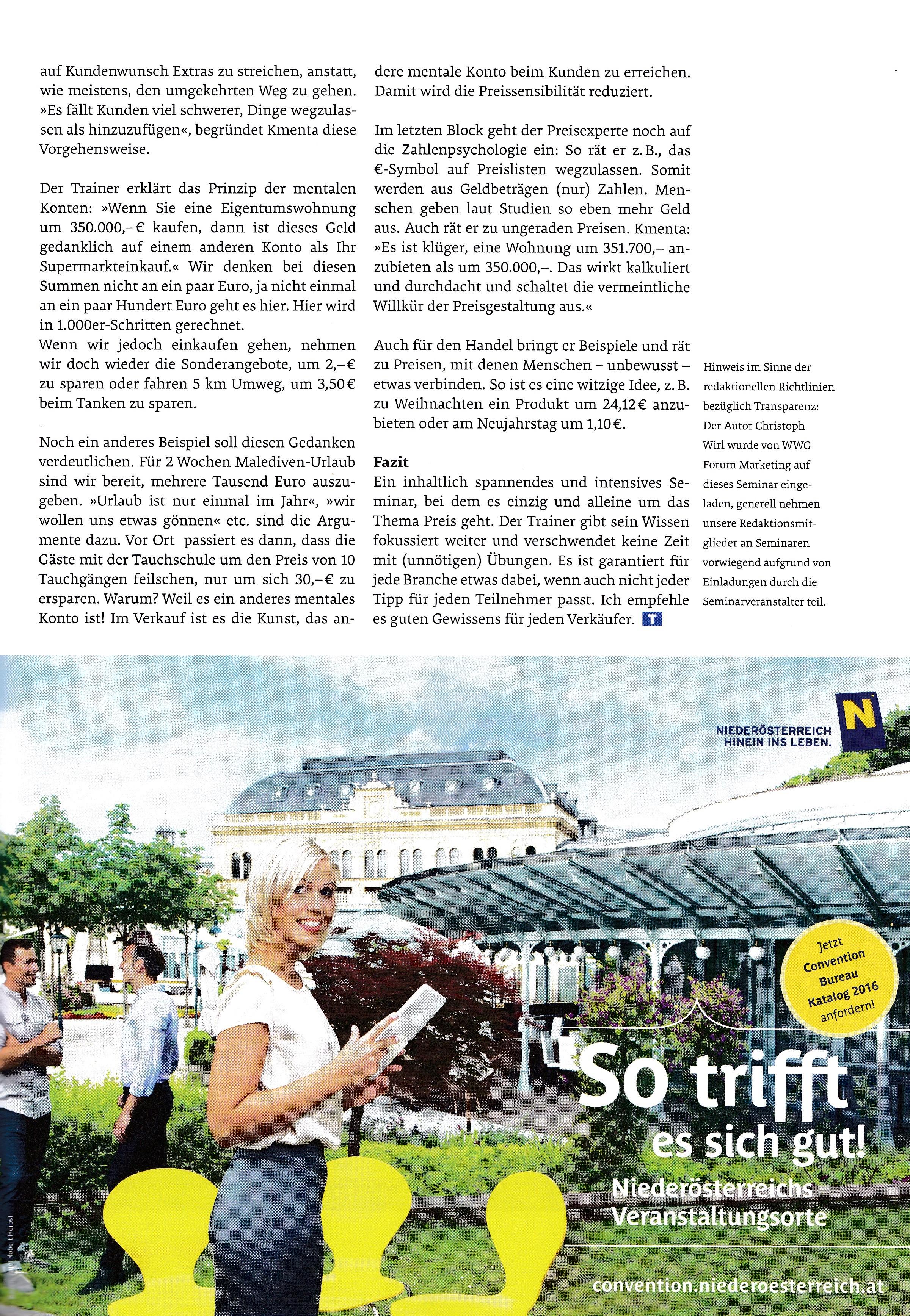 TRAINING Magazin - Seite 2 - Roman Kmenta - Vortragsredner und Autor