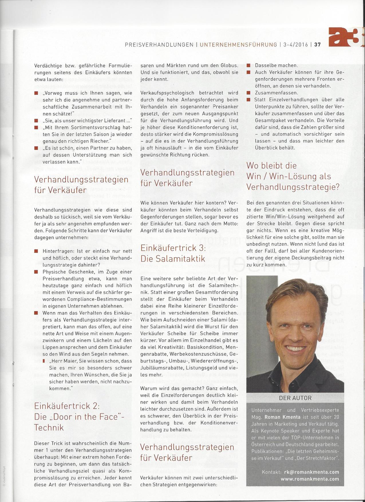 Tückische Taktiken Seite 2 - a3 ECO Magazin 03/2016 - Roman Kmenta - Vortragsredner und Autor