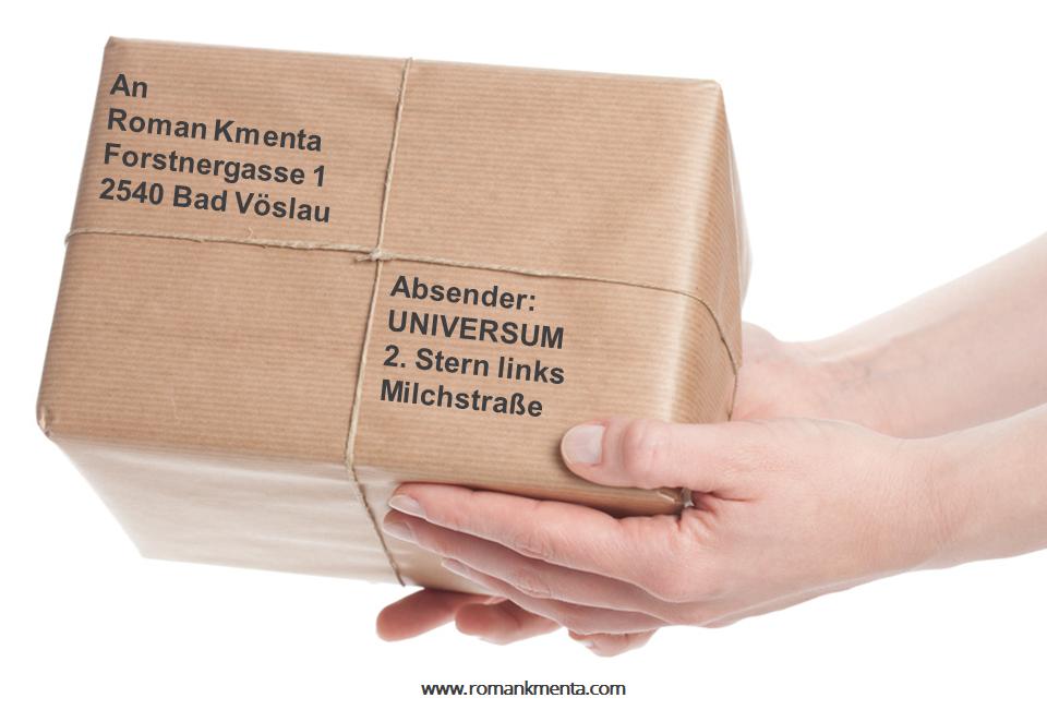 Das Universum ist nicht die Post - Roman Kmenta - Vortragsredner und Autor