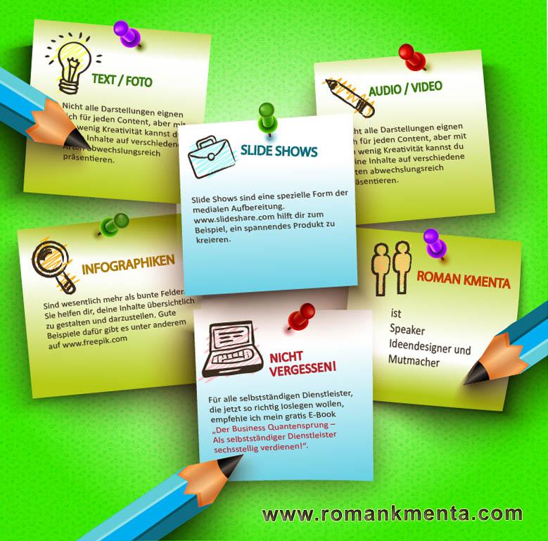 Infografik - Beitrag 43 Contentideen - Roman Kmenta - Keynote Speaker und Unternehmer