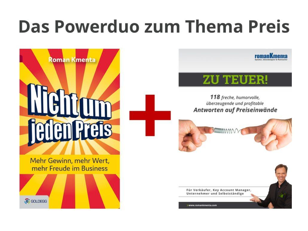 Das Powerduo zum Thema Preis - Roman Kmenta - Keynote Speaker und Autor
