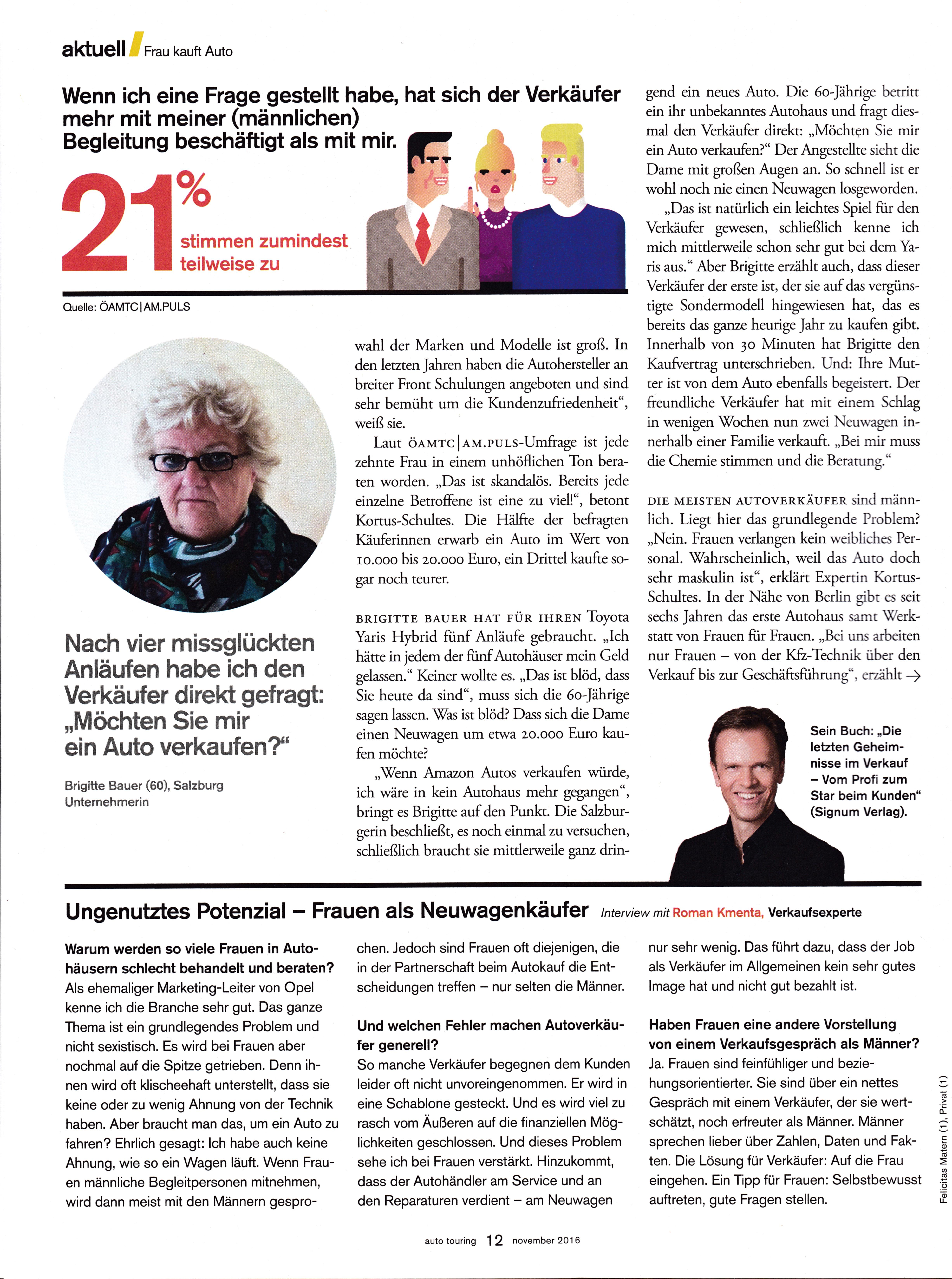 auto touring - november 2016 Seite 3 - Roman Kmenta - Speaker und Autor