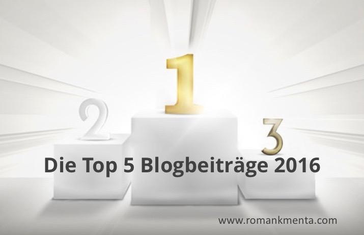 Die Top Blogs 2016 - Roman Kmenta Redner und Blogger