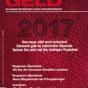 Geld Magazin 12-2016 cover - Roman Kmenta - Vortragsredner und Autor