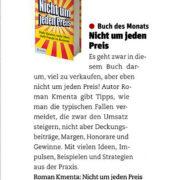 Buch Nicht um jeden Preis - Cash Magazin 122016 - Roman Kmenta - Keynote Speaker und Autor