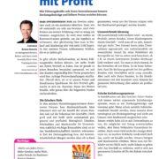 Magazin Training 01-2017 - S. 1 - Führen mit Profit - Roman Kmenta - Keynote Speaker und Autor
