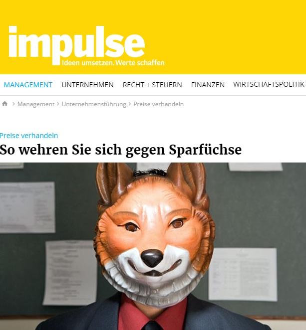 Preise verhandeln: Impulse.de 05/17 Preisverhandlung, Rabattanfrage - Roman Kmenta - Autor und Experte für Preisstrategie