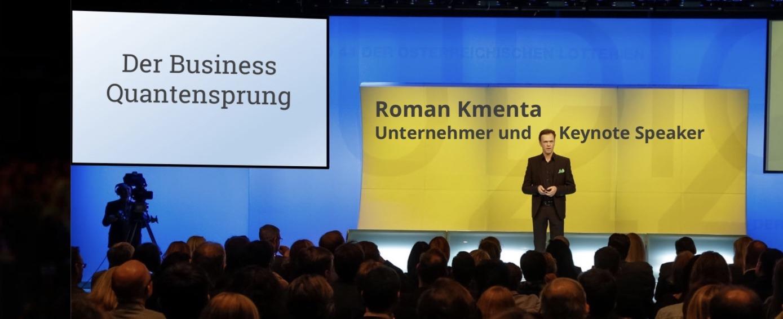 Vortrag - Impulsvortrag - Roman Kmenta Keynote Speaker und Redner