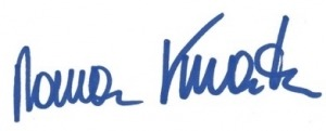 Geschäftsmodelle Unterschrift Kmenta