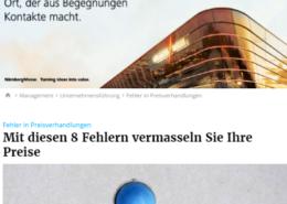Fehler in Preisverhandlungen - impulse.de 06/2017 - Roman Kmenta - Trainer und Berater