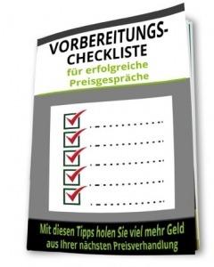 Preisennung Vorbereitung Checkliste - Kmenta