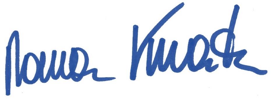 Unterschrift Roman Kmenta Redner und Autor