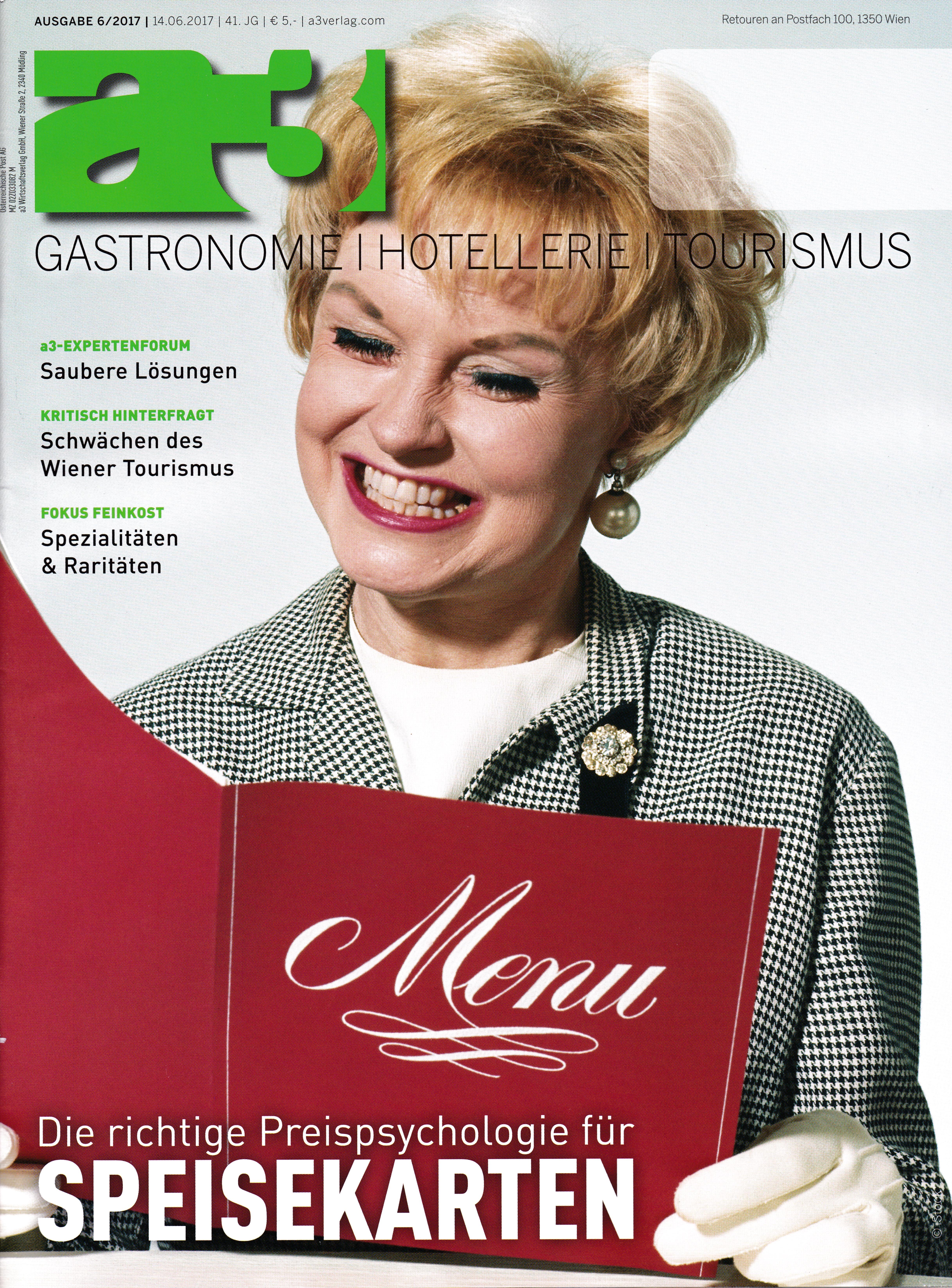 a3 Gast 6_2017 Cover - Roman Kmenta - Experte für Preispsychologie, Berater und Trainer