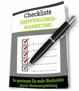 Empfehlungsmarketing Neukundengewinning Checkliste - Roman Kmenta
