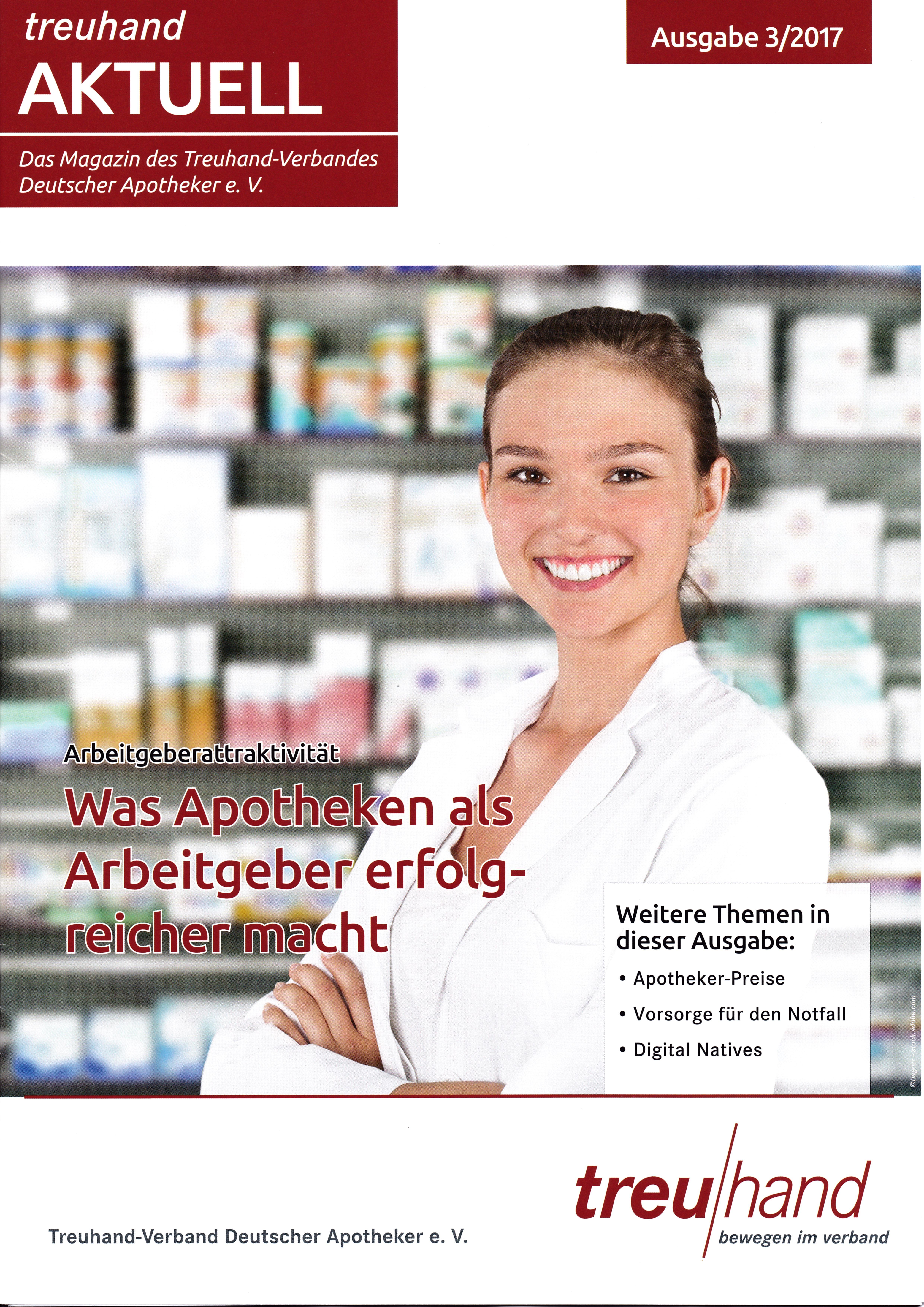 Treuhand Aktuell - Apotheker - 3 2017 Cover Roman Kmenta