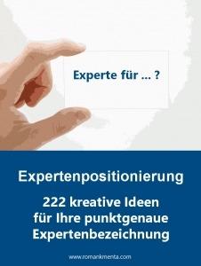 Expertenpositionierung - Sammlung 222 Berufsbezeichnungen für Experten - Roman Kmenta - Experte für Preisstrategie, Autor und Keynote Speaker