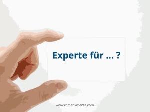 Expertenpositionierung Berufsbezeichnung - Roman Kmenta - Redner und Business Coach