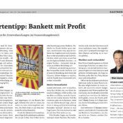 ÖGZ Nr. 15 - 09/2017 - Bakett mit Profit - Roman Kmenta - Keynote Speaker und Autor