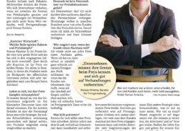 Interview Kärntner Wirtschaft - Nicht um jeden Preis - 07/2017 - Roman Kmenta - Keynote Speaker und Autor