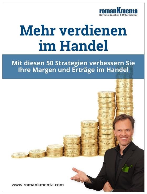 Cover Mehr verdienen im Handel - Roman Kmenta - Keynote Speaker und Autor