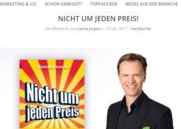 Buchtipp - Nicht um jeden Preis - Gastronomie Journal - Mag. Roman Kmenta - Autor und Keynote Speaker