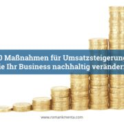 Umsatzsteigern 10 Maßnahmen - Kmenta - Business Coach und Redner
