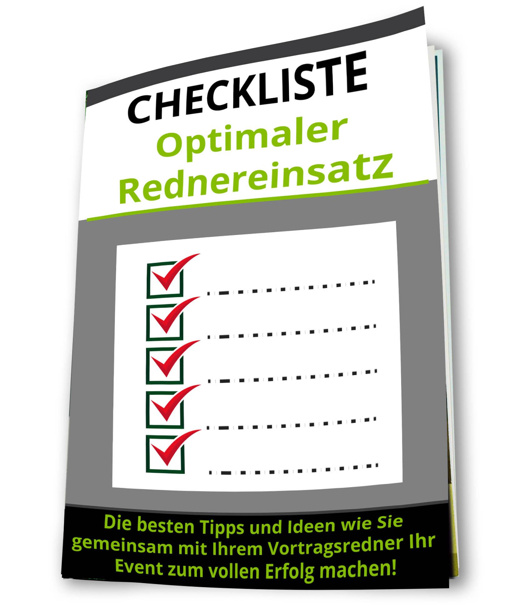 Checkliste Optimaler Rednereinsatz - Roman Kmenta - Vortragsredner