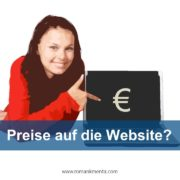 Preise auf Website - - Roman Kmenta - Preisexperte