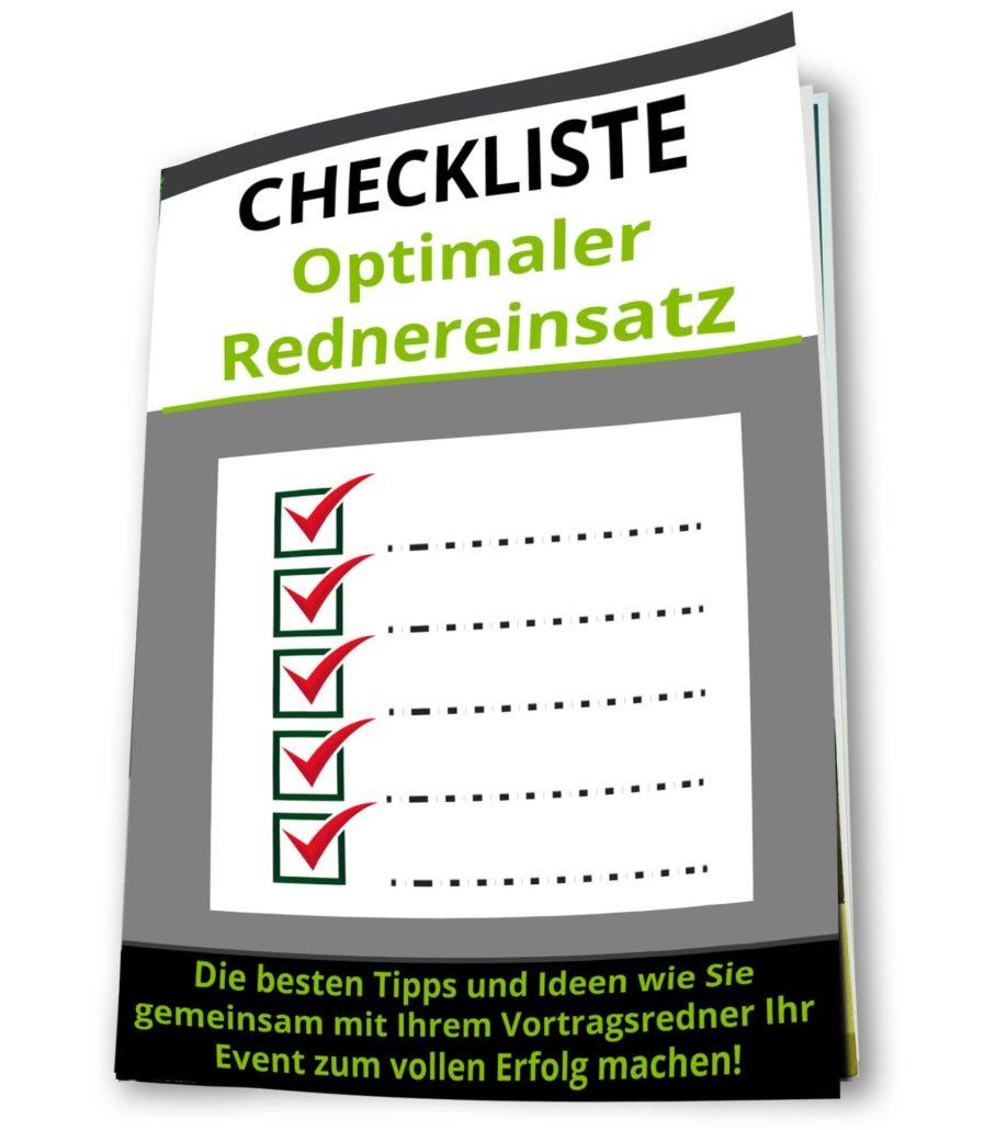 Checkliste Redner buchen für Impulsvortrag - Kmenta - Redner und Autor