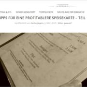 Tipps für profitablere Speisekarten Teil 1 - Gastronomie Journal - Mag. Roman Kmenta - Keynote Speaker und Autor