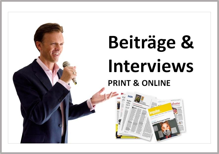 Print & Online - Interviews und Beiträge - Mag. Roman Kmenta - Keynote Speaker und Autor