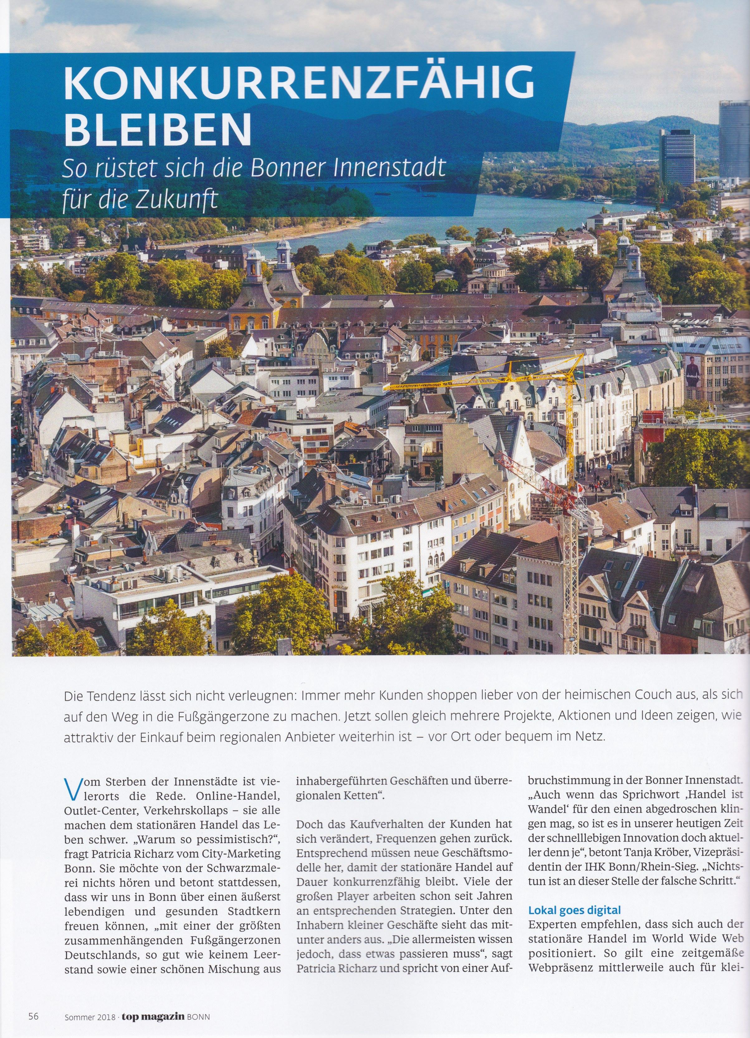 Top Magazin Bonn 1 - Differenzierung, USP, Wertsteigerung - Roman Kmenta - Keynote Speaker und Autor