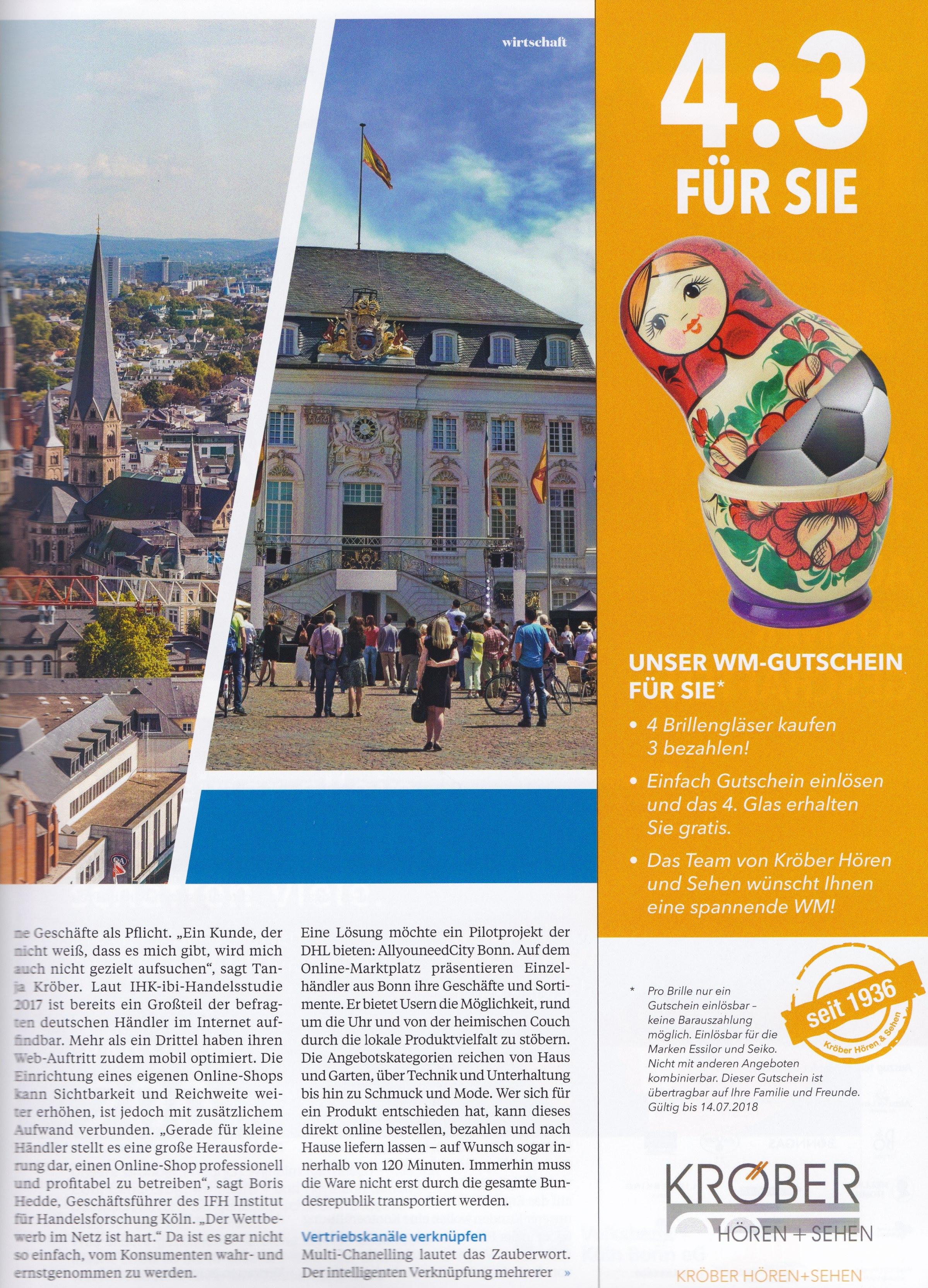 Top Magazin Bonn 2 - Differenzierung, USP, Wertsteigerung - - Roman Kmenta - Keynote Speaker und Autor