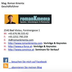 Customer Touchpoints - Signatur -Roman Kmenta - Redner