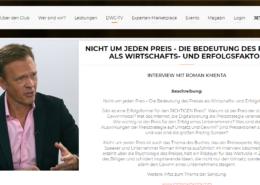 Nicht um jeden Preis - Interview - DWC Digital - Roman Kmenta