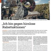 Ich bin gegen hirnlose Rabattaktionen - Black Friday - Interview mit Mag. Roman Kmenta - Elektrojournal - 11/2018